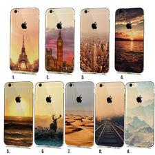 Handy Hülle für Apple iPhone Cover Case Schutz Tasche Motiv Slim TPU Silikon