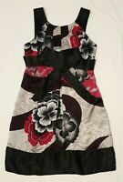 EUC Ted Baker Sz 1 (8) Ladies Dress Black Floral Glam Chic Event Party Wedding
