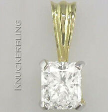 1.00ct Certified Diamond Radiant Cut VS1 Clarity VG + 18ct Gold Pendant + Chain