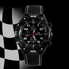 Montre Homme Garcon Quartz Sports Fashion Watch Luxe Chic Noire Silicone Neuve
