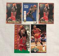 Lot of 5 Michael Jordan NBA Basketball Cards Skybox USA 11 Embossed Jam Session