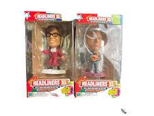 Movie Headliners Xl Austin Powers & Dr Evil Bobblehead Figurine Set 1999 Used