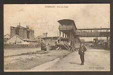 DOMBASLE (54) PENICHE ,WAGON & USINE tres animé en 1917