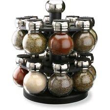 Variety Spice Mini Clear Glass Shaker Rack Carousel