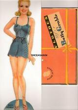 Vintage Uncut 1942 Betty Grable Paper Dolls~#1 Reproduction~Scarce~Origi nal Size
