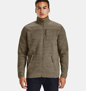 Under Armour Mens UA Specialist 2.0 Sweater Jacket Size XL Brown 1316264-251
