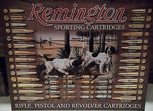 REMINGTON GUNS,Rifle,Pistol & Revolver bullets METAL WALL SIGN 41x31cm/ SHOOTING