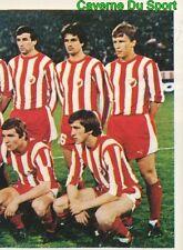 310 TEAM CRVENA ZVEZDA YOUGOSLAVIA VIGNETTE STICKER FOOTBALL 1980 BENJAMIN NEW