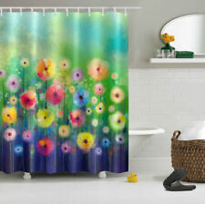 """72"""" Fantasy Floral Flower Abstract Waterproof Fabric Shower Curtain Bathroom Set"""