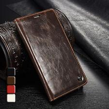 Für Galaxy Note 5 Tasche Etui Case Leder Synthetisch Cover Samsung Hülle Braun