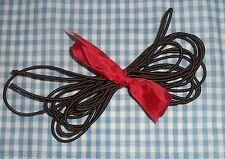 "Doll stringing elastic 1/16""-1/8"" thin cord Brown dolls & craft uses 3 Yard lot"