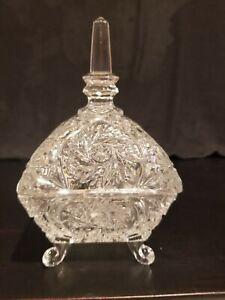 vintage trinket holder vintage scalloped dish unique trinket holder large vintage glass jewelry bowl SALE Ruffled Glass Jewelry Dish