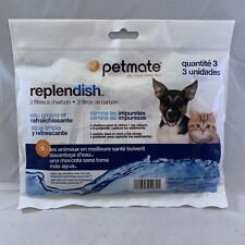 3 Pack Petmate Replendish Charcoal Replacement Filters Pet Dog Gravity Waterer