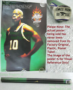 "NITF! Vintage ☆ OLD STOCK ☆ NIKE Poster ☆ DO or DIE ☆ Dennis ""the Worm"" Rodman"