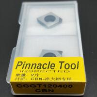 2pcs CCGT120408 CBN INSERT Turning Insert CNC Lathe  for steel processing