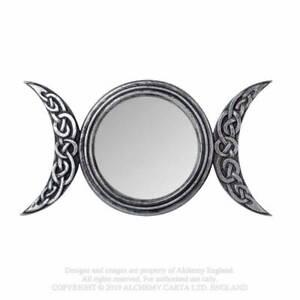 Alchemy Gothic Triple Moon Wiccan Mirror - Gothic,Goth