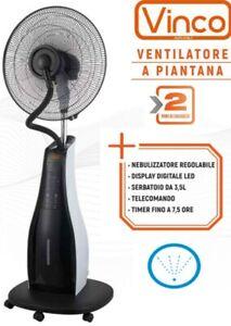 Ventilatore con nebulizzatore acqua a piantana telecomando nebulizzazione bar