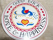 """CONESTOGA CRAFTS Hex Sign, 8"""" Good Luck, Love, & Happiness"""