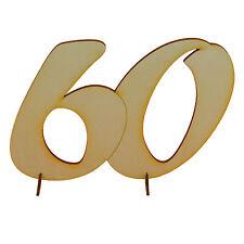 Compleanno Anno 60 Regalo 15cm da legno Matrimonio Anniversario Tischdeko