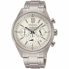 Seiko Chronograph SSB153 P1 Silver/White Dial Men's Steel Quartz Analog Watch
