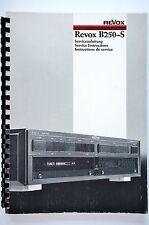 studer revox B250-S service-manual/service-anleitung/schaltplan! top-zustand