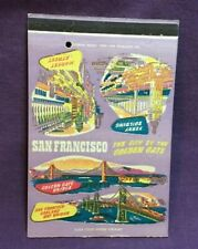 Advertising Matchbook Cover SAN FRANCISCO CITY THE THE GOLDEN GATE