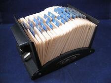 Vintage Metal Rolodex File Card Organizer Model V524