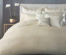 Donna Karan Reflection Ivory King Duvet Comforter Cover DKNY Silk Blend