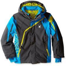 POLAR ELECTRIC BLUE SPYDER CHALLENGER JACKET Coat SKI SNOWBOARD Winter BOYS 14