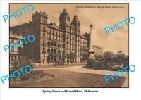 LARGE PHOTO OF OLD GRAND HOTEL, MELBOURNE, VICTORIA