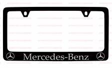 (1) MERCEDES BENZ BLACK LICENSE PLATE FRAME