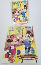 "Vintage 1986 Golden 100 Piece Puzzle Disney Mickey Minnie Mouse Gym 12"" x 15"""