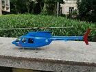 Bell-206 scale fuselage for OMPhobby M2 helicotper, stainless steel landing gear