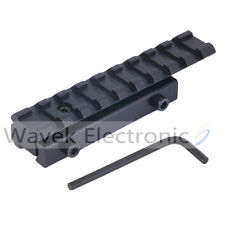 11mm Dovetail Extension to 20mm Weaver Picatinny Adapter Riser Rail Mount Base