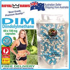 RoyalRaws DIM 60 x 100mg capsules│Diindolylmethane fat weight diet loss estrogen