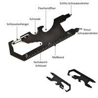 7-in-1 EDC Multitool Schlüsselanhänger Multiwerkzeug Karabiner Survival Tool