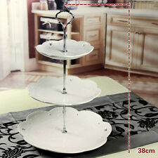 3 Tier Cupcake Stand Stainless Steel Round Wedding Cake Display Tower NO PLATES