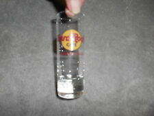 ( SG2 ) SHOT GLASS - HARD ROCK CAFE - NIAGARA FALLS -  RED IMPRINT