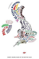 England Rugby Art Map- A1 Poster- (Premiership Pro12 Championship)
