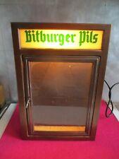 BITBURGER BIER, Schaukasten Speisekarte Restaurantwerbung Reklame beleuchtet