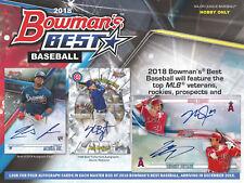 2018 Bowman's Best Baseball Sealed Hobby Box (12 Packs - 4 Autos)!