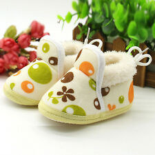 Toddler Infant Newborn Baby Cartoon Boots Shoes Soft Sole Prewalker Warm Shoes
