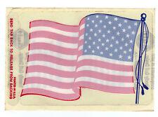GULF OIL COMPANY USA FLAG WINDSHIELD STICKER VINTAGE 60'S RARE