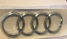 AUDI RINGS Curved REAR BOOT BADGE Chrome 192mm X 63mm FITS A5 Q A R series