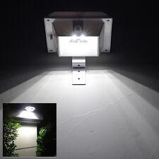 Outdoor 4-LED Solar Powered Sensor Wandleuchte Wall Light Garden Yard Path Lamps