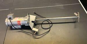"Drum Mixer Agitator 1/2 HP 115V 360 RPM Clamp Mount 24"" Shaft"