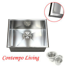 """New listing 23"""" Topmount Drop In Stainless Steel l Kitchen / Utility / Laundry Sink 12"""" Deep"""