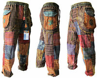 Coton Léger D/'été Pantalon Patchwork Casual Hippie Boho élastique népalais Pantalon