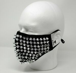 Spike Face Mask Studded Punk Face Covering with Filter Pocket from Got Pride!®