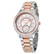 Michael Kors Women's Rose Gold Silver Madelyn Stainless Steel Watch MK6288